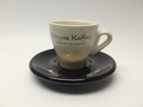 6 x MINGES Tassenkombi Espresso (Creme/Schwarz/Gold)