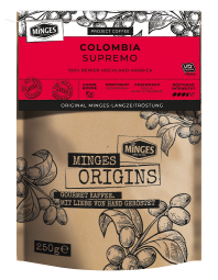250g MINGES ORIGINS COLOMBIA SUPREMO