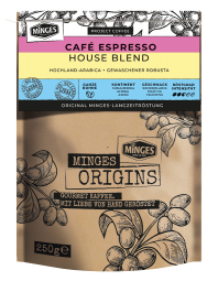 250g MINGES ORIGINS CAFFÈ ESPRESSO HOUSE BLEND