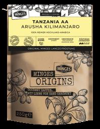 250g MINGES ORIGINS Tanzania AA Arusha Kilimanjaro